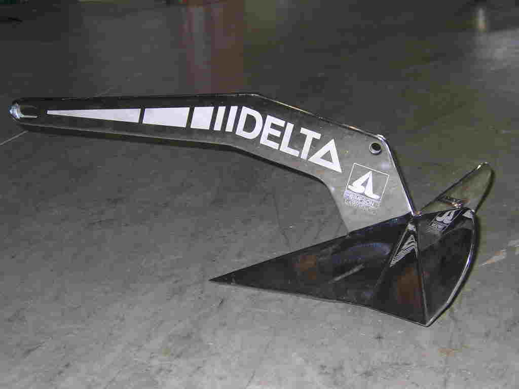 Delta stainless steel plow anchor