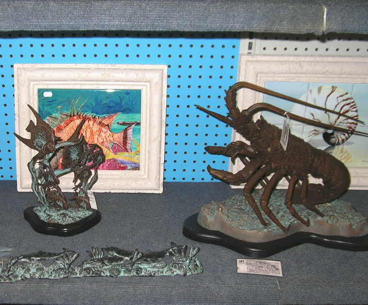 Sculpture by SPI and nautical framed art